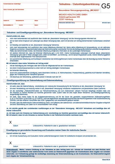 Miniature du formulaire pour les patients atteints d'IGV